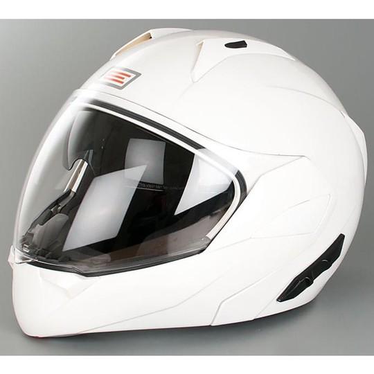 Casque de moto modulaire Origin Riviera Double Visor Glossy White
