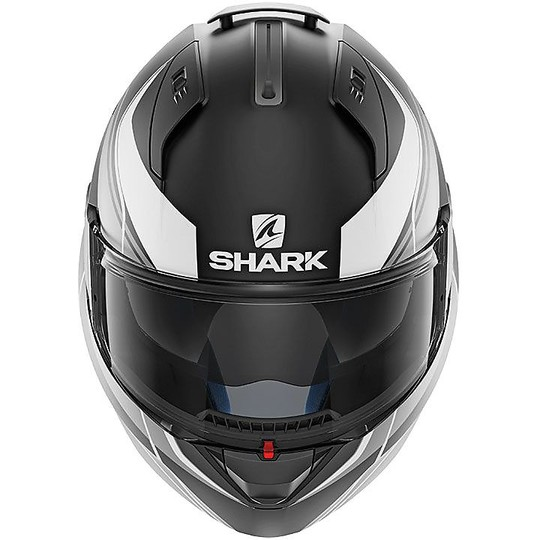 Casque de moto modulaire ouvrable Shark EVO ONE 2 KRONO noir argent mat