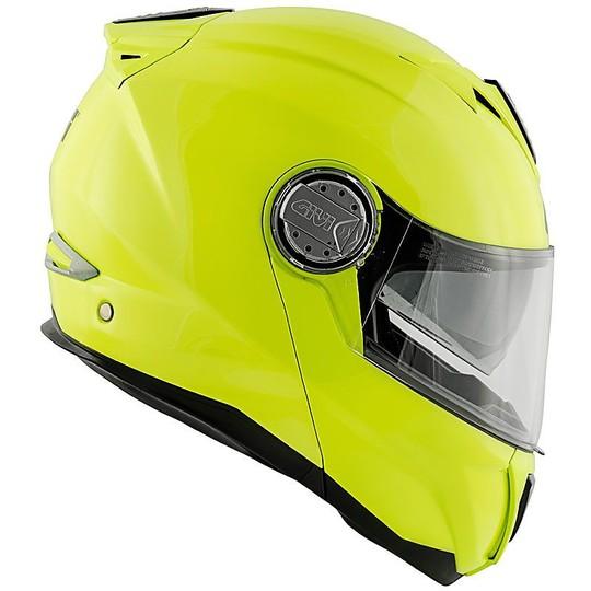 Casque de moto modulaire P / J Givi X.23 Solid Glossy Yellow Fluo