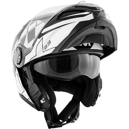 Casque de moto modulaire P / J Givi X.23 SYDNEY ECLIPSE Noir Blanc
