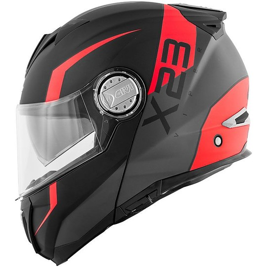 Casque de moto modulaire P / J Givi X.23 SYDNEY VIPER Matt Black Orange