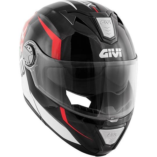 Casque de moto modulaire P / J Givi X.23 SYDNEY VIPER noir brillant rouge