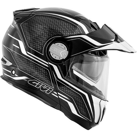 Casque de moto modulaire P / J Givi X.33 couches CANYON noir blanc