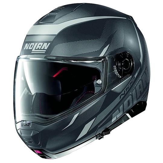 Casque de moto modulaire P / J Nolan N100.5 Lumière N-Com Black 038 Black Lava Grey