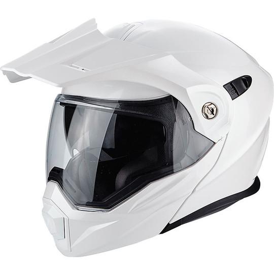 Casque de moto modulaire Scorpion ADX-1 Solid Pearly White