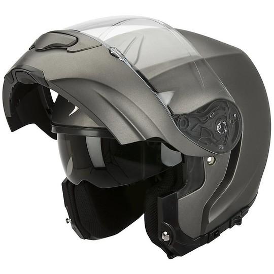 Casque de moto modulaire Scorpion Exo-3000 Air Solid Anthracite Matt