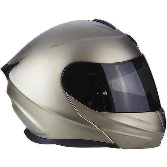 Casque de moto modulaire Scorpion Exo-920 Solid Mono Titanium