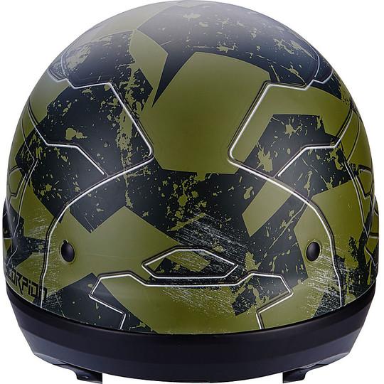 Casque de moto modulaire Scorpion Exo-Combat 2 en 1 Matt Green Ratnik