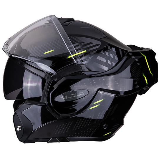 Casque de moto modulaire Scorpion EXO TECH PULSE Glossy Black
