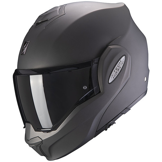 Casque de moto modulaire Scorpion EXO TECH SOLID Anthracite Matt