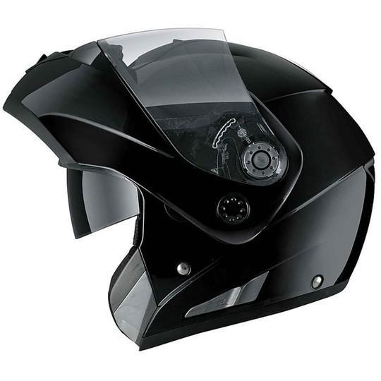Casque de moto modulaire Shark ouvrable Double visière OPENLINE Noir brillant