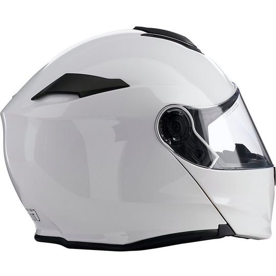 Casque de moto modulaire Z1r All Road Solaris Glossy White