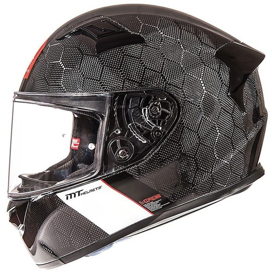 Casque de moto MT Casques KRE Snake Carbon Full Carbon