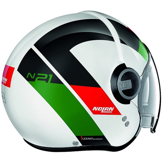 Casque de moto Nolan N21 Visor Spheroid 045 Mini-Jet Blanc brillant
