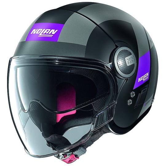 Casque de moto Nolan N21 Visor Spheroid 052 Mini-Jet Matt Black Purple