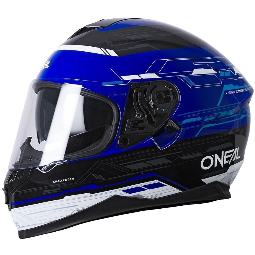 Casque de moto Oneal Challenger Matrix Noir Bleu