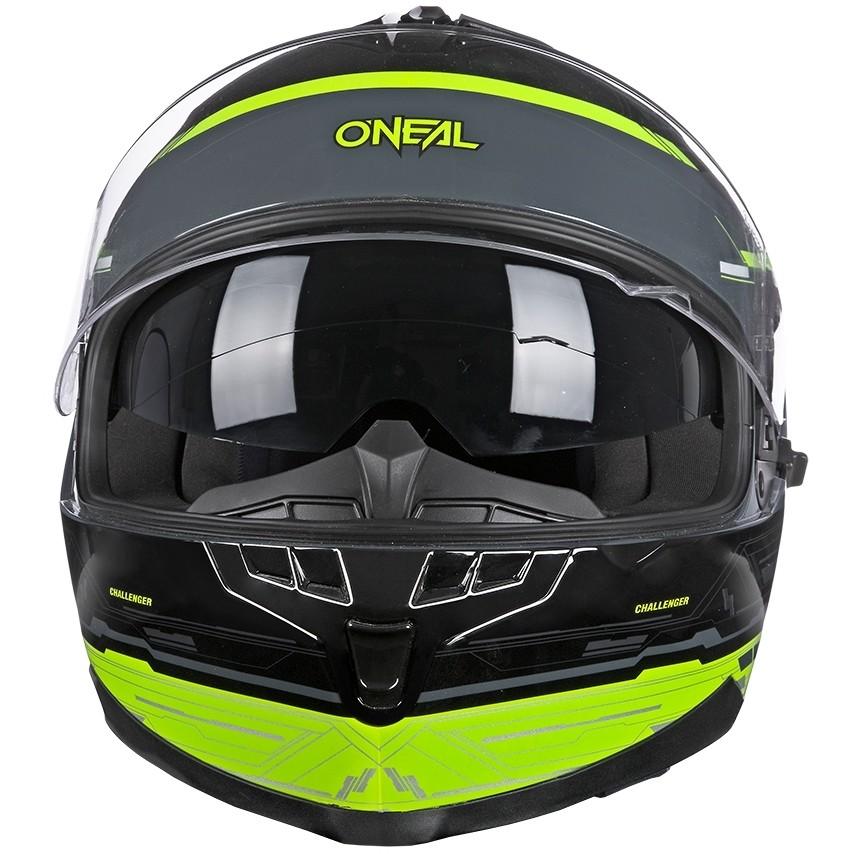 Casque de moto Oneal Challenger Matrix noir jaune