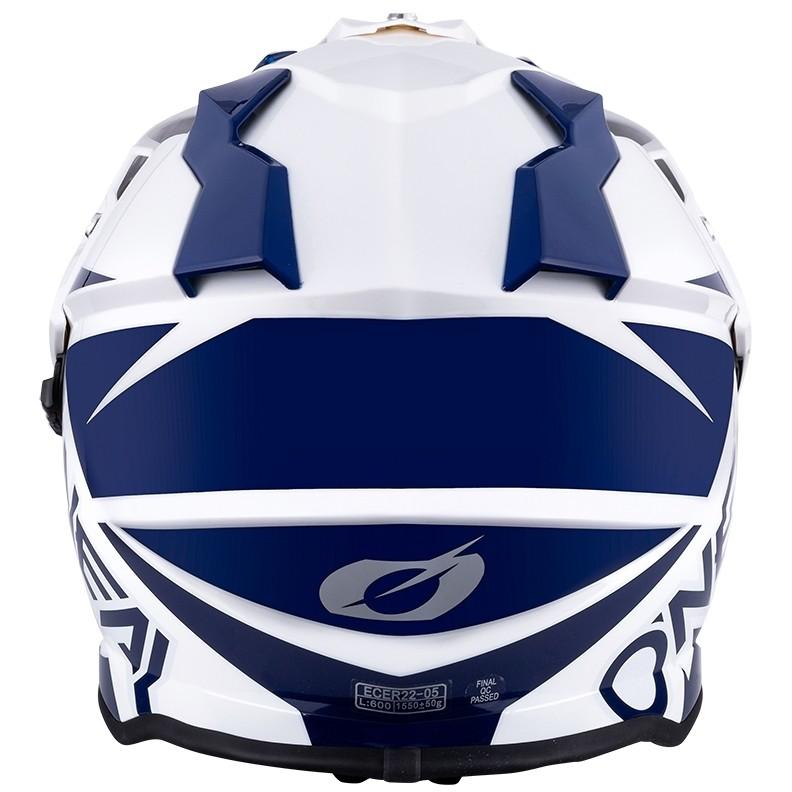 Casque de moto Onealierra Helmet R Bleu Blanc