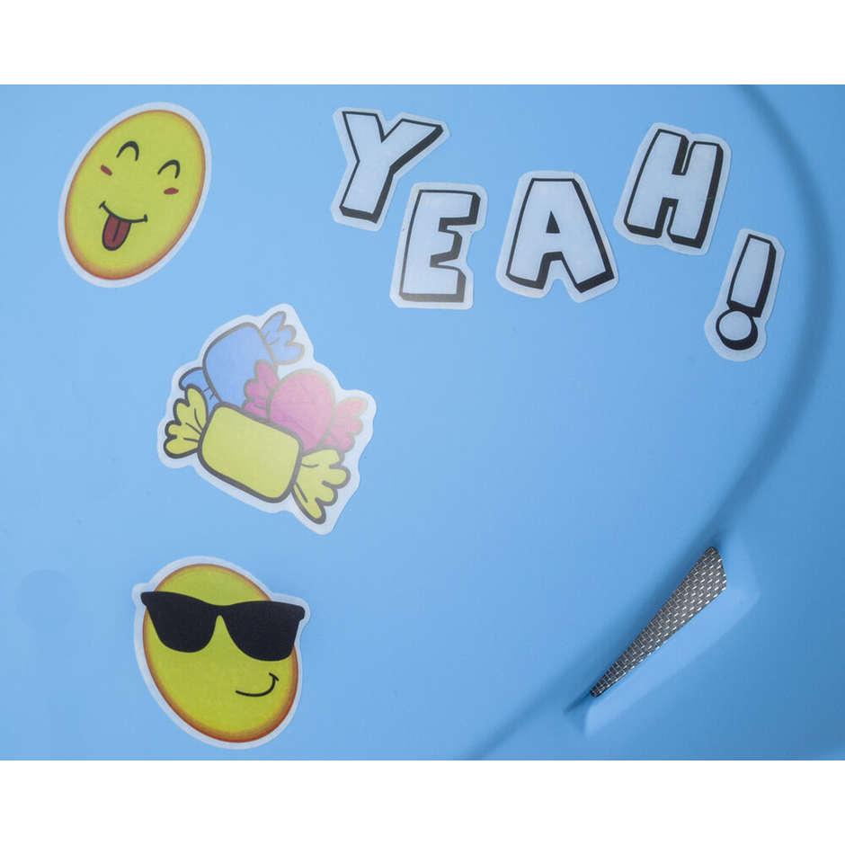 Casque de moto pour enfants CGM 205s MAGIC SMILE visière bleu mat en forme