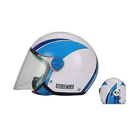 Casque de moto pour enfants Jet BHR Sparco SP504 Bleu