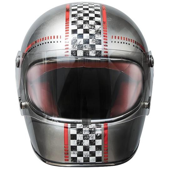 Casque de moto Premier Trophy Style 70s FL chromé
