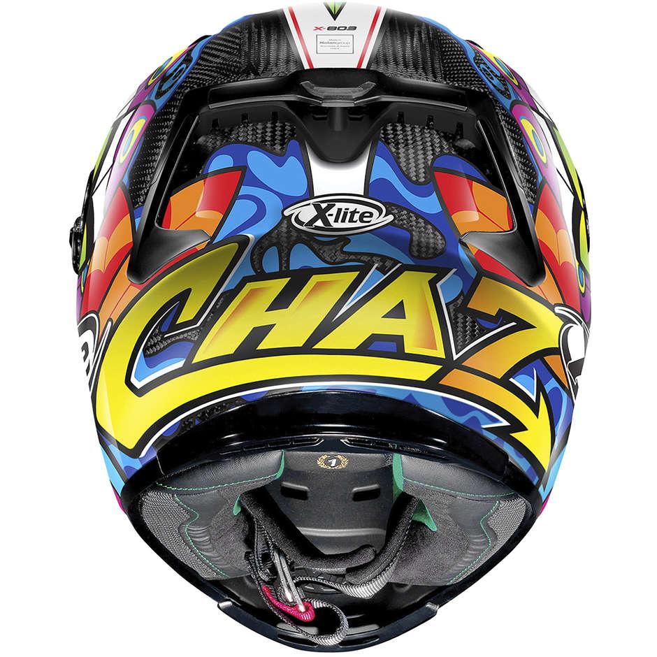 Casque de moto tout carbone X-Lite X-803 Ultra Carbon REPLICA 074 C. Davies