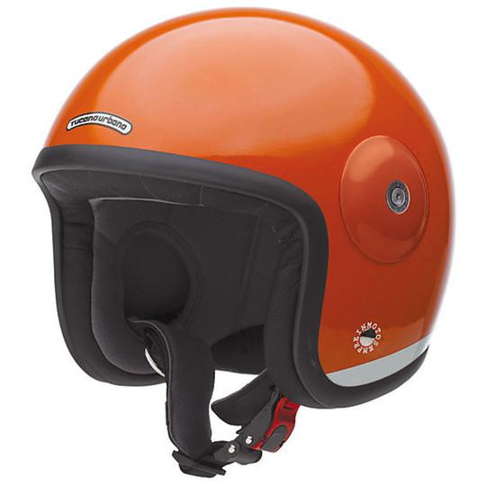 Casque de moto Tucano Urbano EL'MET Jet en fibre orange kaki
