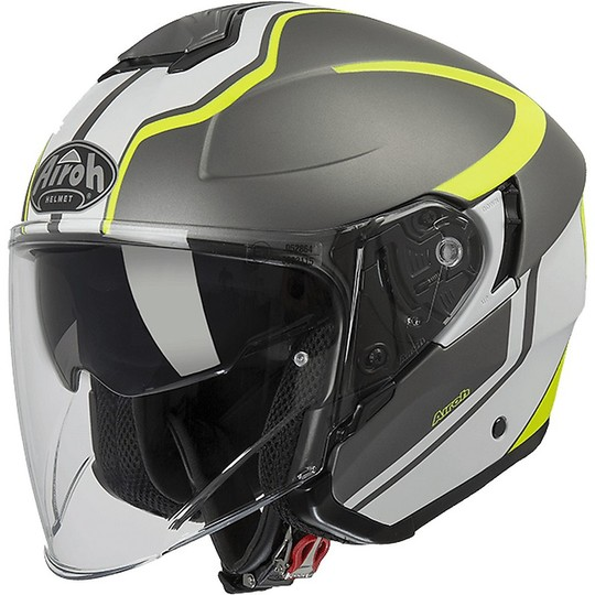 Casque de moto Urban Jet Airoh HUNTER SOUL Anthracite Matt