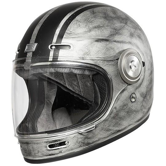 Casque de moto vintage intégral Origin VEGA CUSTOM Matt Silver