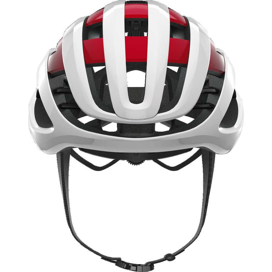 Casque de vélo Abus Airbreaker Road 2020 blanc rouge
