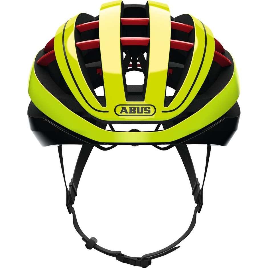 Casque de vélo Abus Aventor Ventilated Yellow Fluo