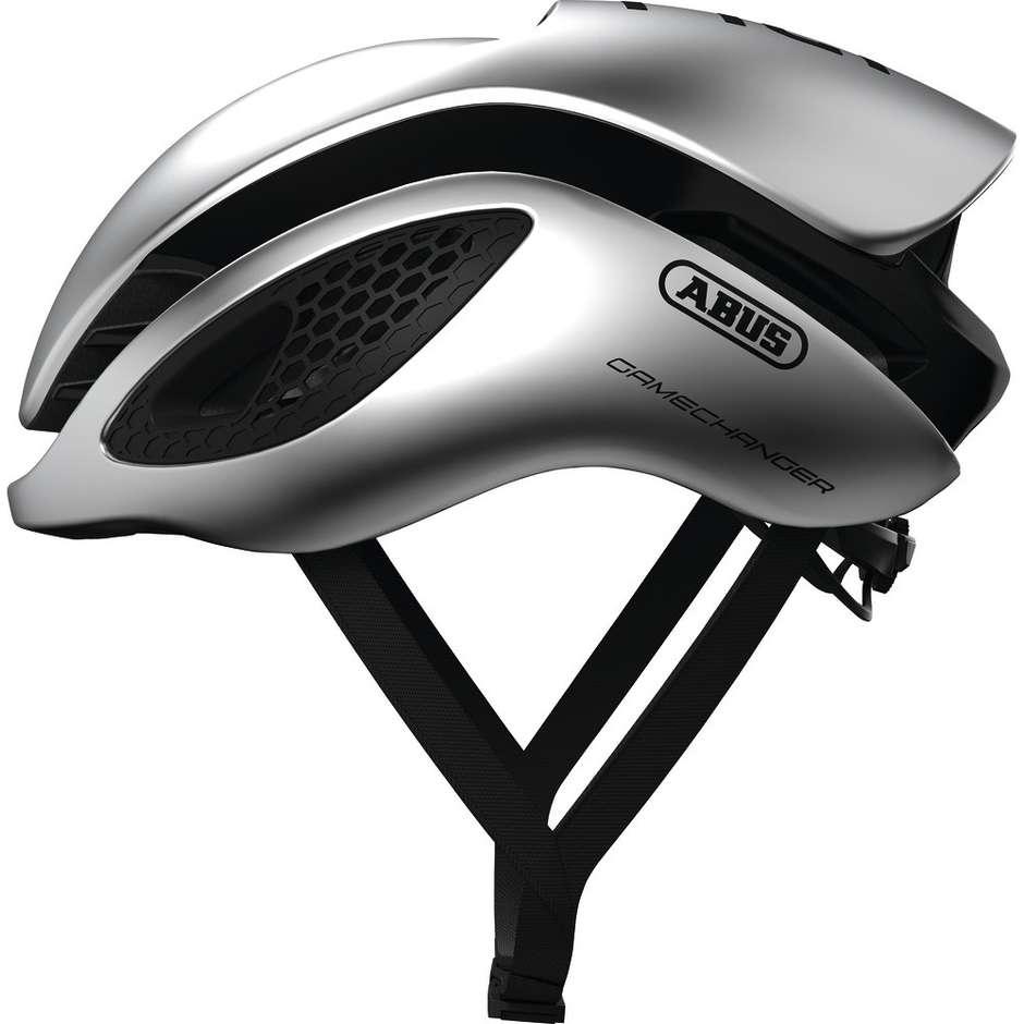 Casque de vélo professionnel Abus Game Changer Gleam Silver