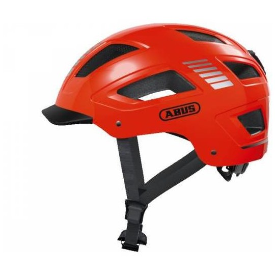 Casque de vélo urbain Abus Hyban 2.0 avec voyant orange