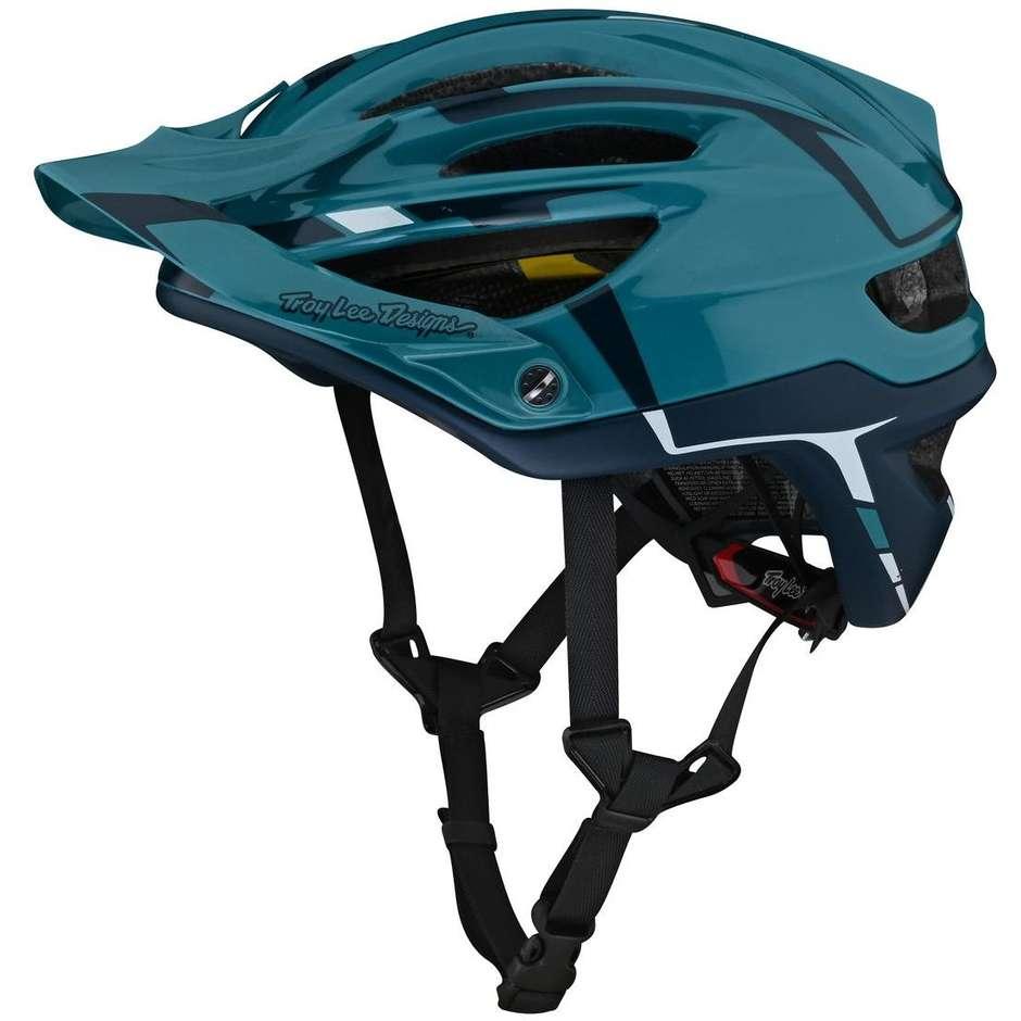 Casque de vélo VTT Troy Lee Designs A2 SLIVER Marine