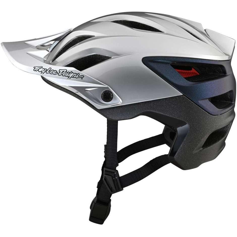 Casque de vélo VTT Troy Lee Designs A3 UNO Silver Electro