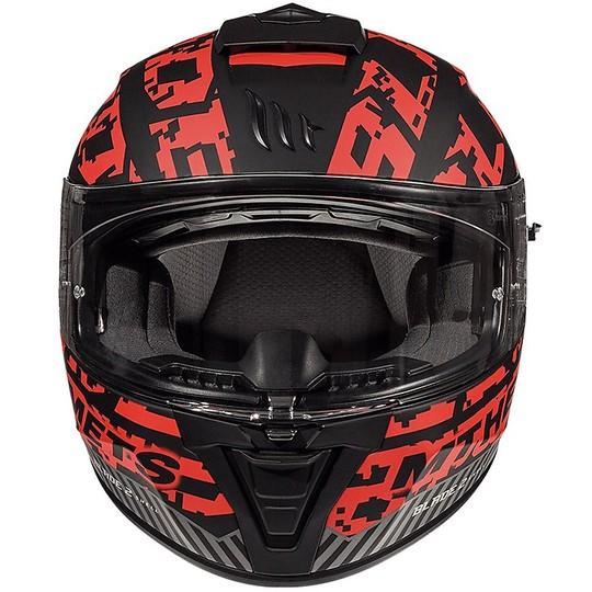 Casque intégral de moto MT Casques BLADE 2 SV CHECK Noir Matt Red