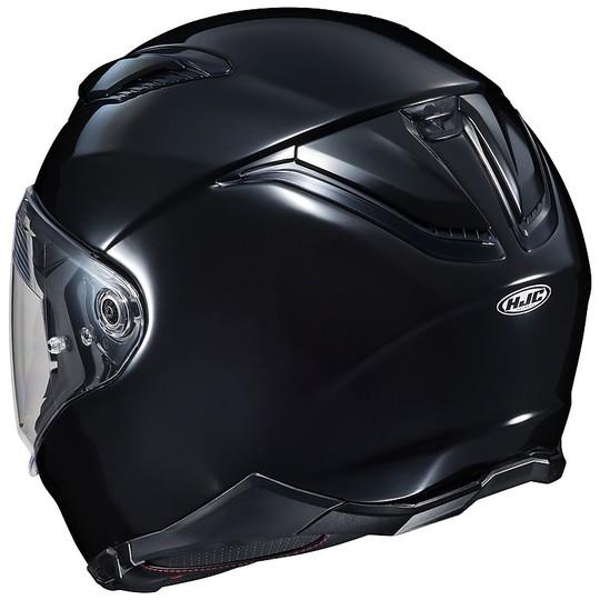 Casque intégral en double fibre Visor Motorcycle HJC F70 Metal Gloss Black