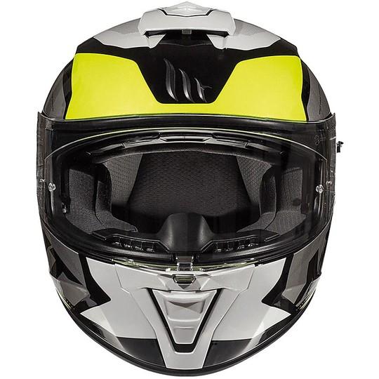 Casque Intégral Moto Casques MT BLADE 2 SV TRICK C3 Jaune Fluo