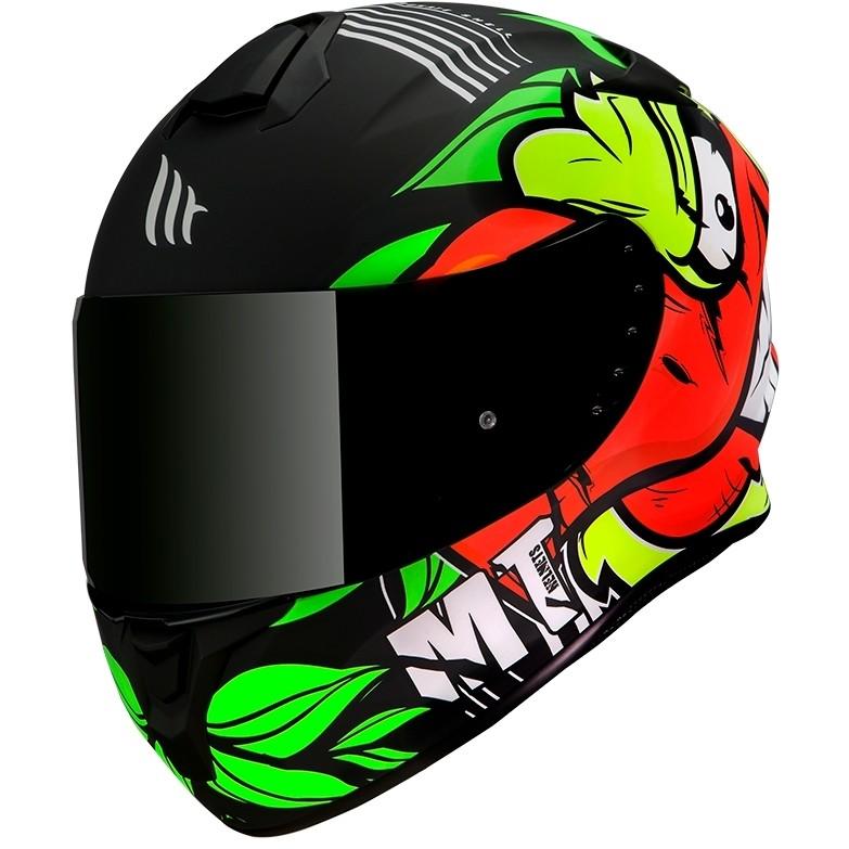 Casque Intégral Moto Casques MT TARGO TRUCK A2 Noir Mat Jaune Fluo