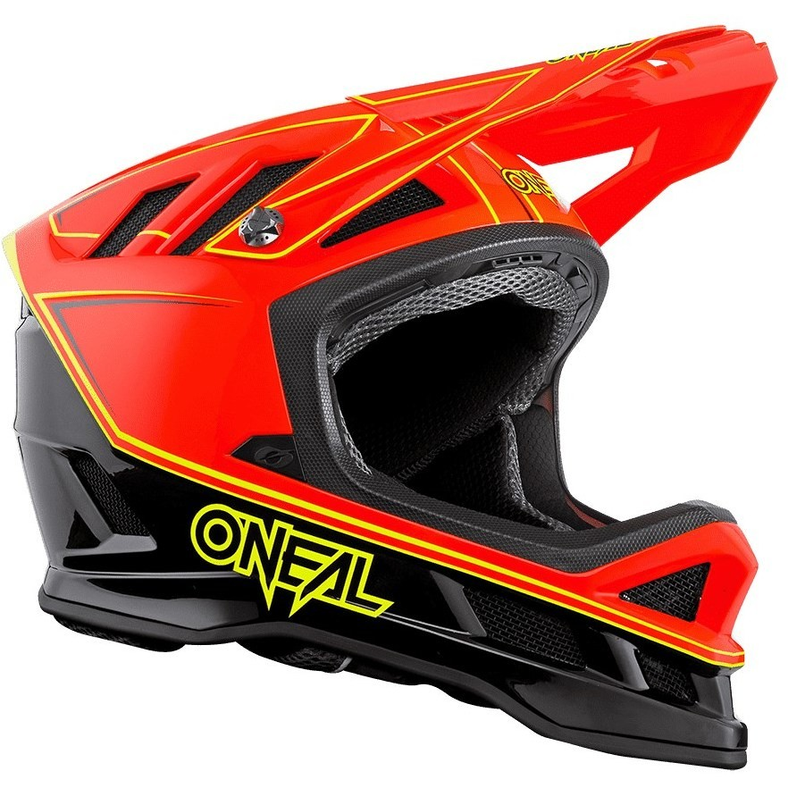 Casque Intégral Vélo Mtb eBike Oneal Blade Charger Noir Rouge