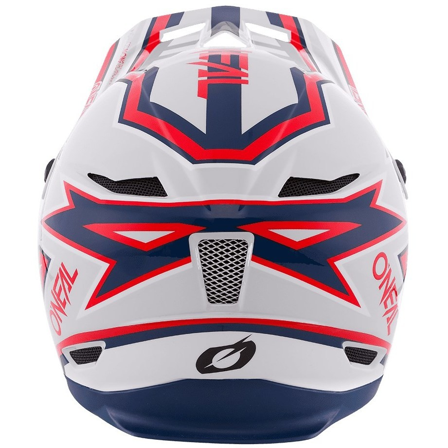 Casque Intégral Vélo Mtb eBike Oneal Fury Rapid Silver Red