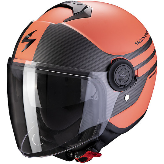 Casque Jet Double Visière Scorpion Exo-City FASHION Matt Black Coral