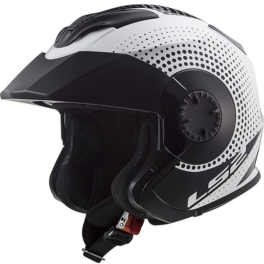 Casque Jet Double Visor Ls2 OF570 VERSO Spin White Black