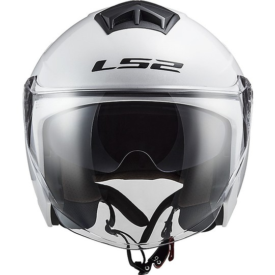 Casque Jet Ls2 Double Visor Ls2 OF573 TWISTER 2 Solid White