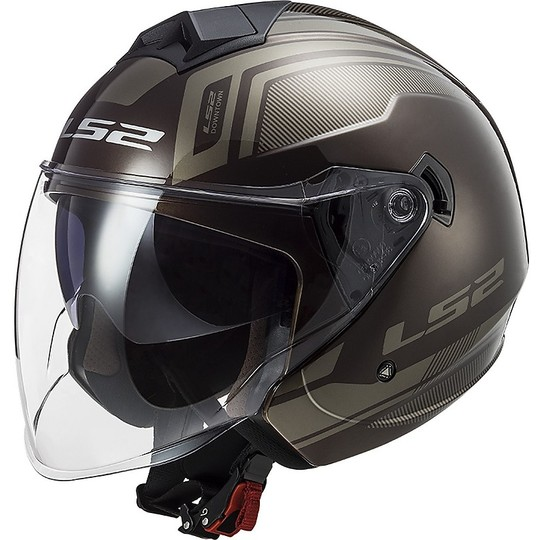 Casque Jet Moto Ls2 Double Visor Ls2 OF573 TWISTER 2 Flix Wood