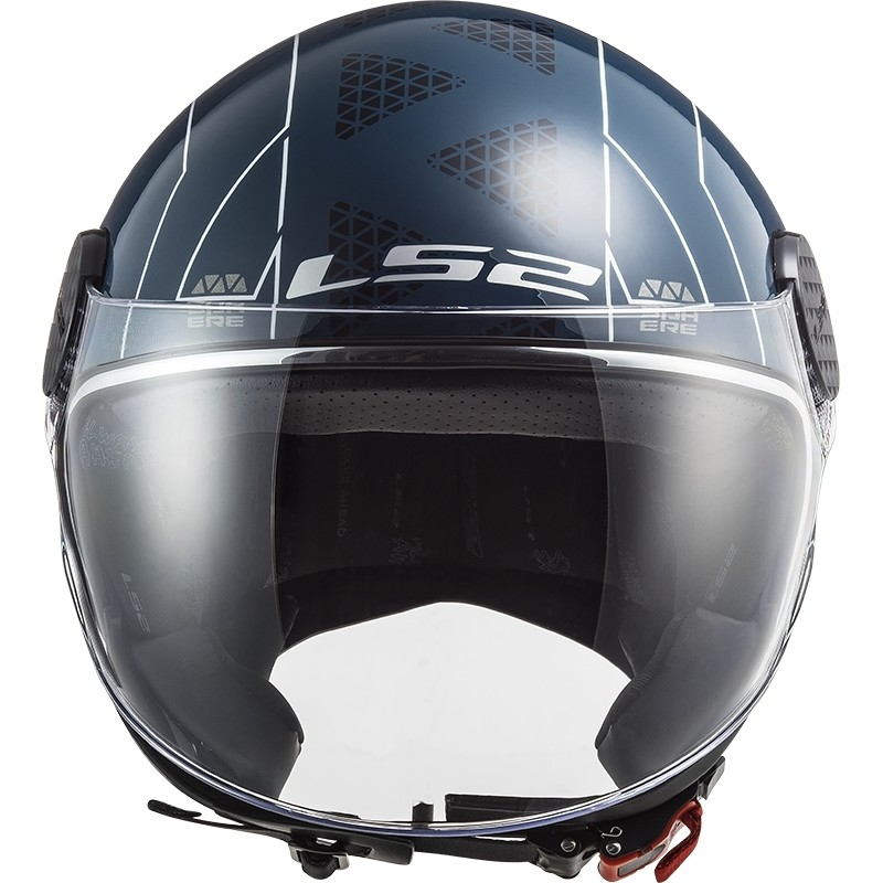 Casque Jet Moto Ls2 OF558 Sphere Lux LINUS Cobalt