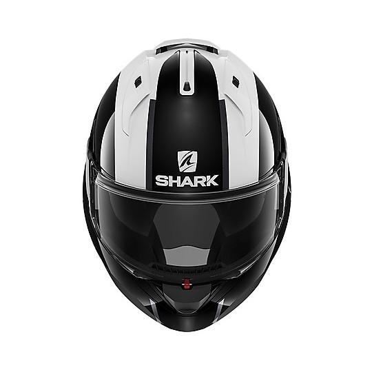 Casque Modulaire Chin Guard Moto Shark EVO ES Endless Blanc Noir Rouge