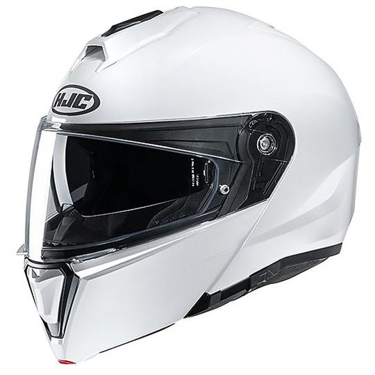 Casque Modulaire Double Approbation P / J Moto HJC i90 Solid White