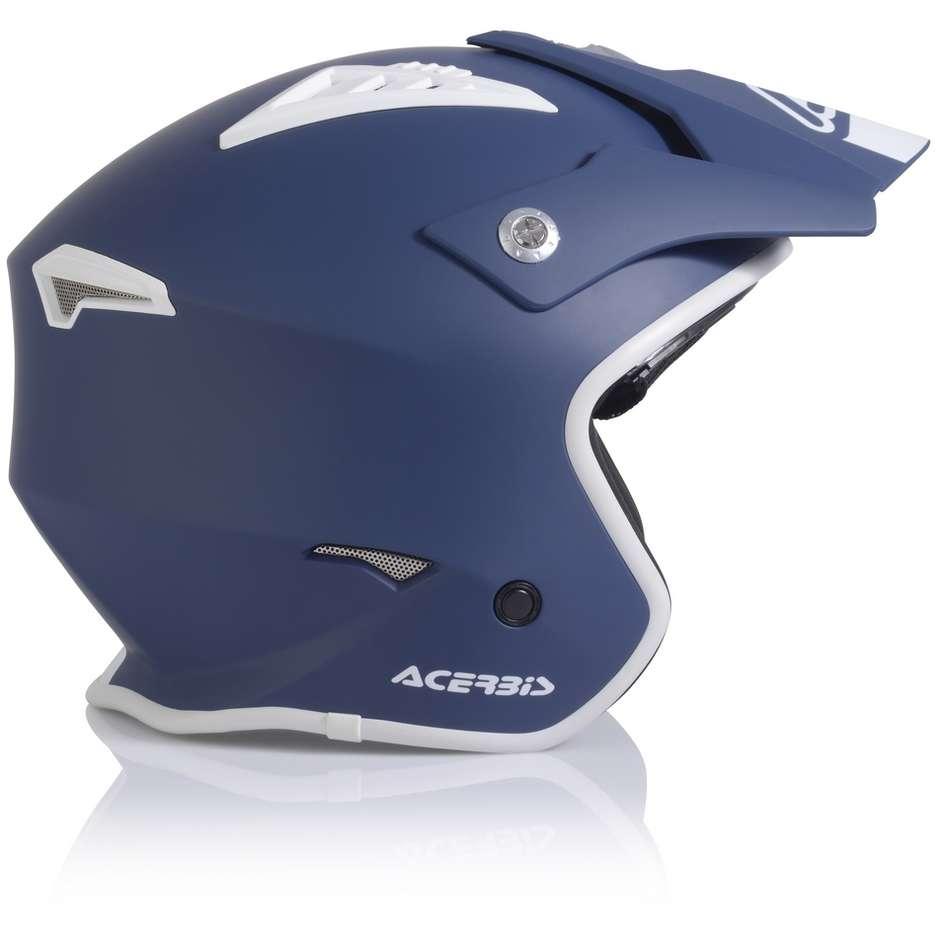 Casque Moto Acerbis ARIA Demi-Jet Bleu Mat