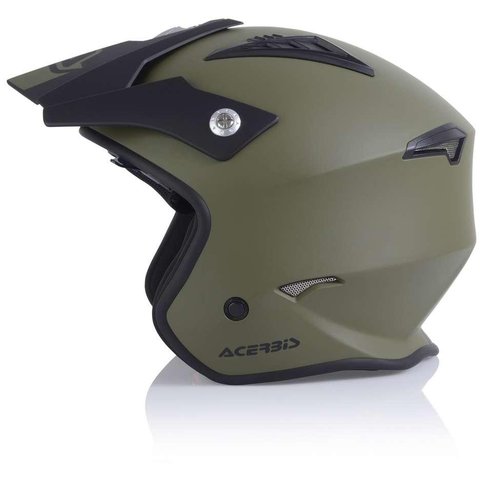 Casque Moto Acerbis ARIA Demi-Jet Vert Militaire Mat